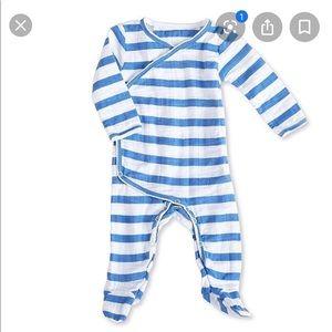 aden + anais royal blue and white onesie